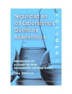 Seguridad en los Laboratorios Quimlcos Academicos