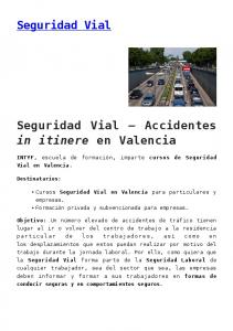 Seguridad Vial Accidentes in itinere en Valencia