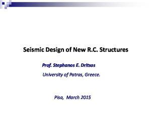 Seismic Design of New R.C. Structures