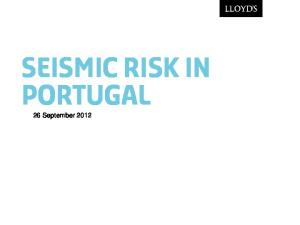 Seismic risk in portugal