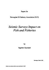 Seismic Surveys Impact on Fish and Fisheries