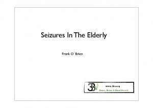Seizures In The Elderly