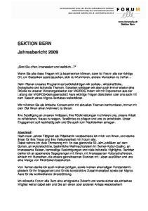 SEKTION BERN Jahresbericht 2009