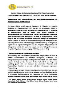 Sektion Bildung der Deutschen Gesellschaft für Pflegewissenschaft