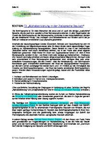 SEKTION F3 Alphabetisierung in der Zielsprache Deutsch