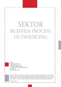 SEKTOR BUSINESS PROCESS OUTSOURCING