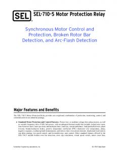 SEL Motor Protection Relay