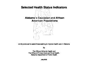 Selected Health Status Indicators