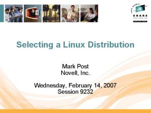 Selecting a Linux Distribution