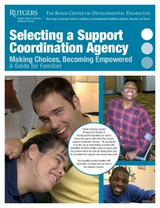 Selecting a Support Coordination Agency