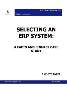 SELECTING AN ERP SYSTEM: