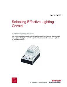 Selecting Effective Lighting Control