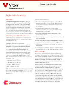 Selection Guide. Technical Information. Fluoroelastomers
