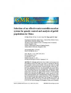 Selection of an effective microsatellite marker system for genetic control and analysis of gerbil populations in China