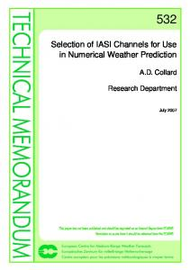 Selection of IASI Channels for Use in Numerical Weather Prediction