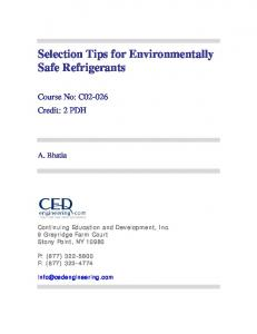 Selection Tips for Environmentally Safe Refrigerants