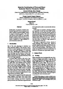 Selective Combination of Pivot and Direct Statistical Machine Translation Models