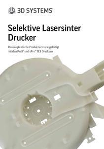 Selektive Lasersinter Drucker. Thermoplastische Produktionsteile gefertigt mit den ProX und spro SLS Druckern