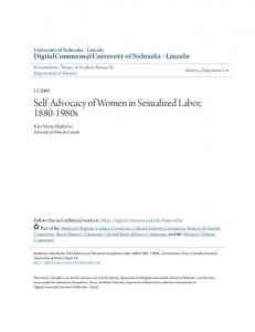 Self-Advocacy of Women in Sexualized Labor, s