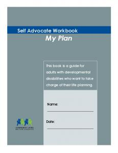 Self Advocate Workbook My Plan