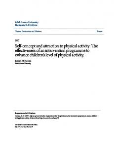 Self-concept and attraction to physical activity: The effectiveness of an intervention programme to enhance children's level of physical activity