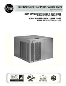 SELF-CONTAINED HEAT PUMP PACKAGE UNITS