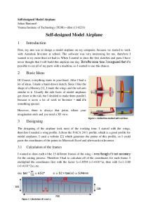Self-designed Model Airplane