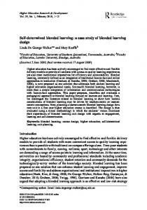 Self-determined blended learning: a case study of blended learning design