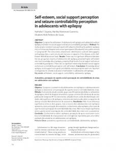 Self-esteem, social support perception and seizure controllability perception in adolescents with epilepsy