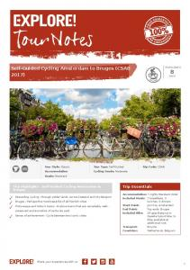 Self-Guided Cycling Amsterdam to Bruges (CSAB 2017)