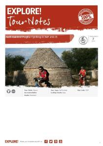 Self-Guided Puglia Cycling (CSIP 2017)