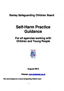 Self-Harm Practice Guidance