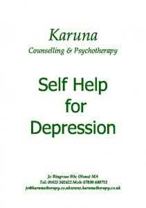 Self Help for Depression