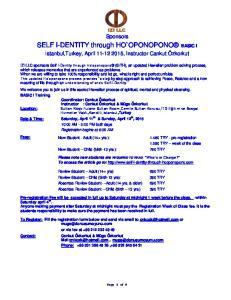SELF I-DENTITY through HO`OPONOPONO BASIC I