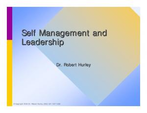 Self Management and Leadership