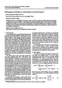 Self-organized Criticality in a Model Based on Neural Network