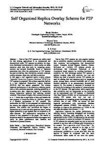 Self Organized Replica Overlay Scheme for P2P Networks