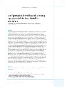 Self-perceived oral health among 19-year-olds in two Swedish counties