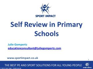 Self Review in Primary Schools
