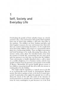 Self, Society and Everyday Life