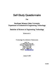 Self-Study Questionnaire