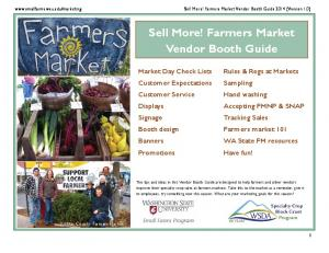 Sell More! Farmers Market Vendor Booth Guide