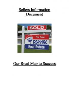 Sellers Information Document. Our Road Map to Success