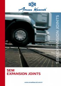 SEM EXPANSION JOINTS EXPANSION JOINTS