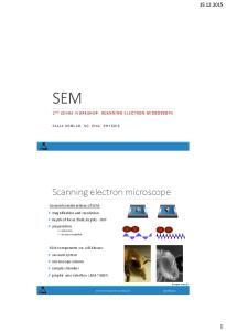 SEM. Scanning electron microscope