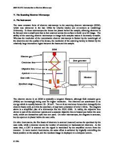 SEM. Specimen stage Detector