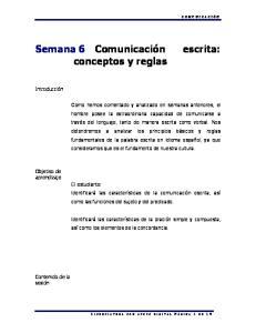Semana 6 Comunicación conceptos y reglas