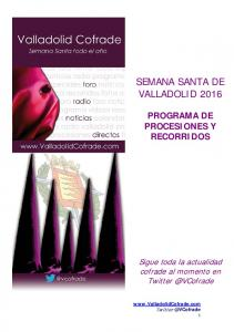 SEMANA SANTA DE VALLADOLID 2016