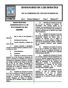 SEMANARIO DE LOS DEBATES