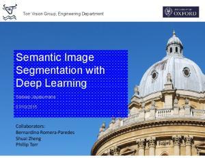 Semantic Image Segmentation with Deep Learning